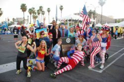 Redondo Beach Super Bowl 10k/5k participants gather before the race to compete in annual costume contest sponsored by king Harbor Association (Photo Courtesy of King Harbor Association).