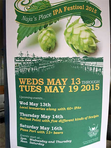 Naja's Place 7th Week-Long IPA Festival Starts Wednesday