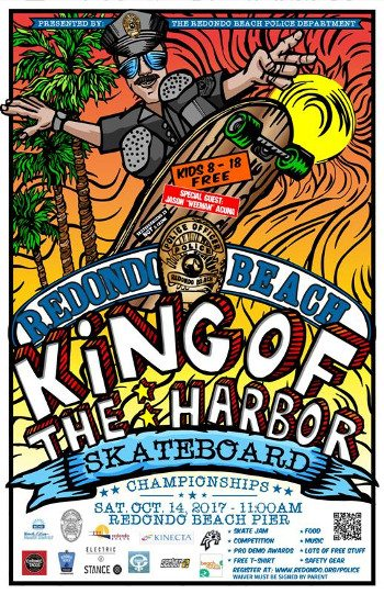 The Redondo Beach Police Department is proud to announce our first annual King of the Harbor Skateboard Championships.