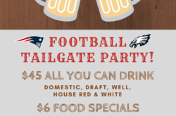 The Standing Room is hosting a Football Tailgate Party in Hermosa Beach