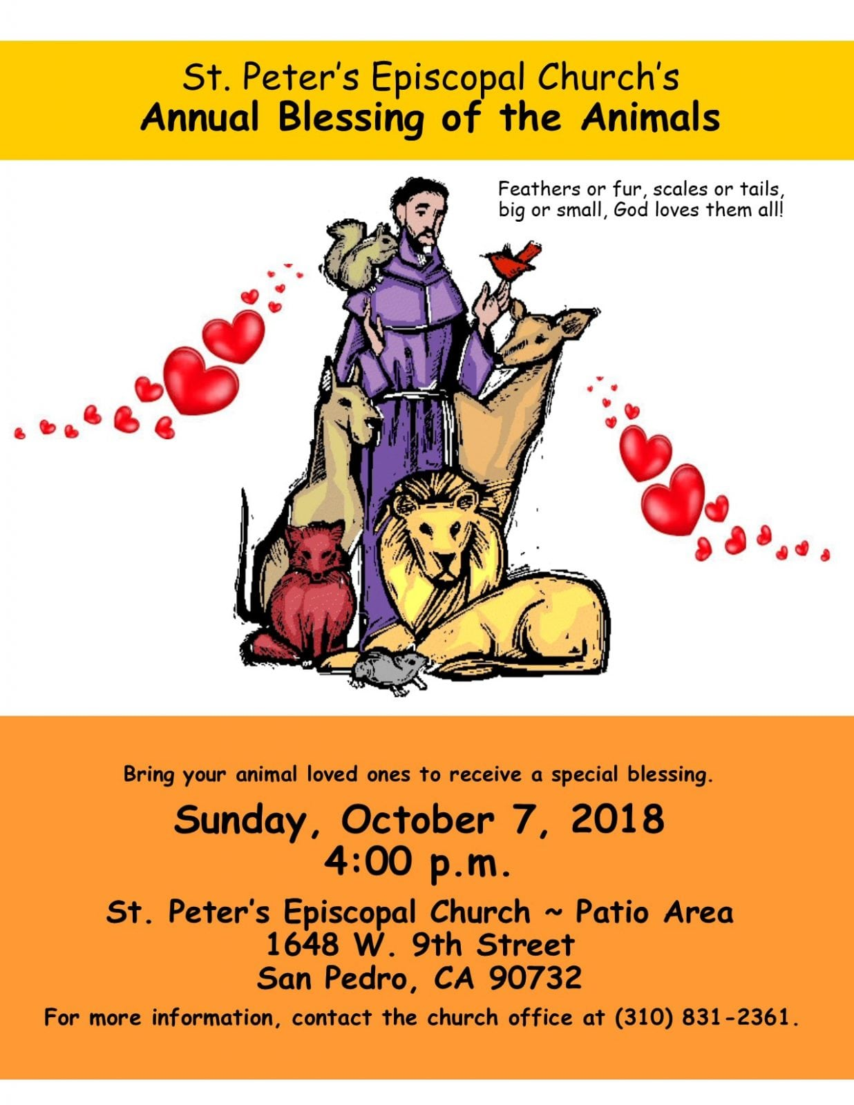 Blessing of the Animals - South Bay Events